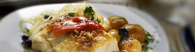 almoço de bacalhau