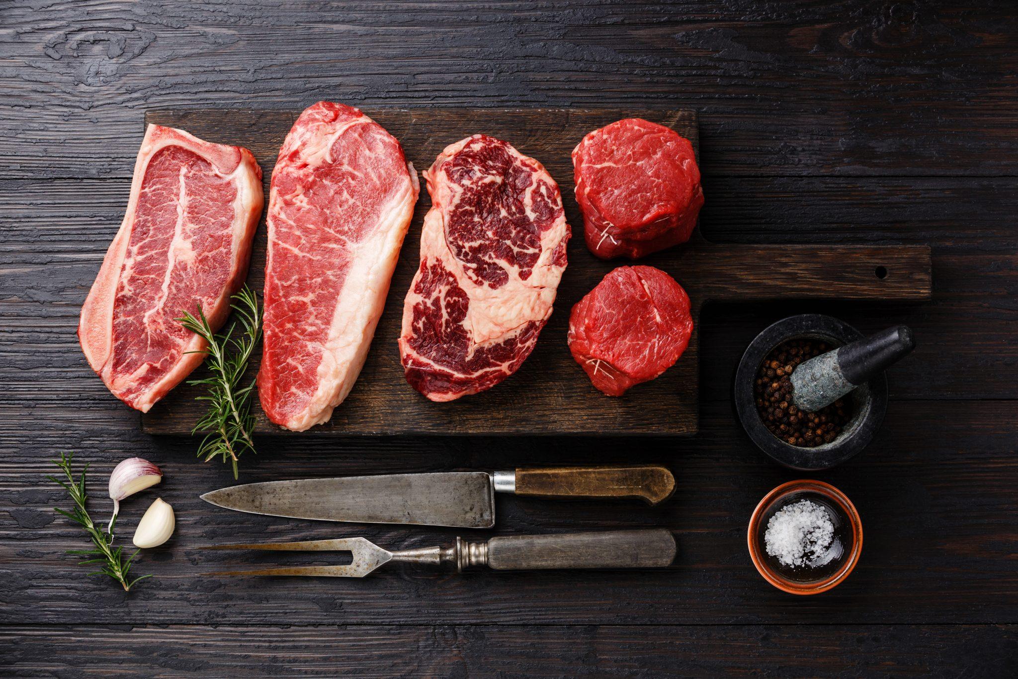carnes cruas