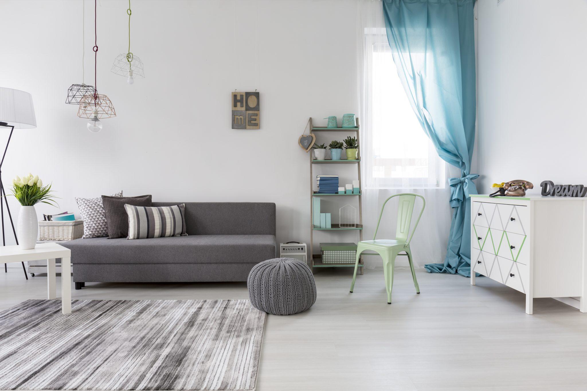sala de estar (design escandinavo)